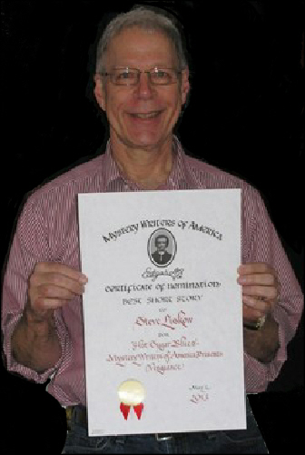 Steve with his Edgar Award